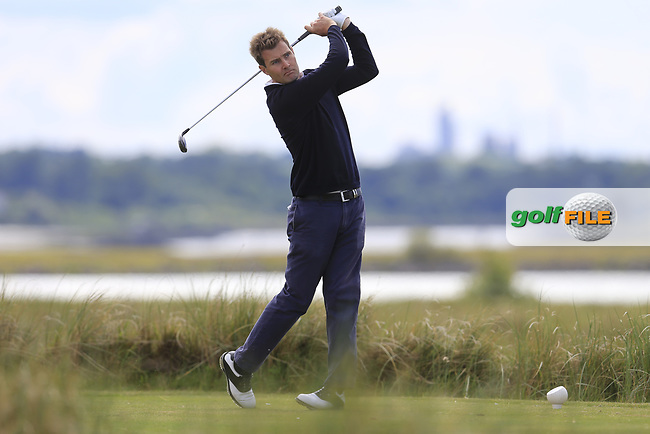 James Gerrard Fox (Portmarnock) during the 2nd round of the East of Ireland championship, Co Louth Golf Club, Baltray, Co Louth, Ireland. 03/06/2017<br /> Picture: Golffile | Fran Caffrey<br /> <br /> <br /> All photo usage must carry mandatory copyright credit (&copy; Golffile | Fran Caffrey)