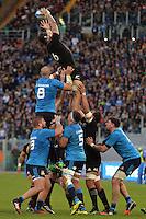 Touche Elliott Dixon All Blacks.<br /> Roma 12/11/2016, Stadio Olimpico<br /> Test Match 2016<br /> Italia vs All Blacks - Italy vs All Black (New Zeland)<br /> Foto Antonietta Baldassarre / Insidefoto