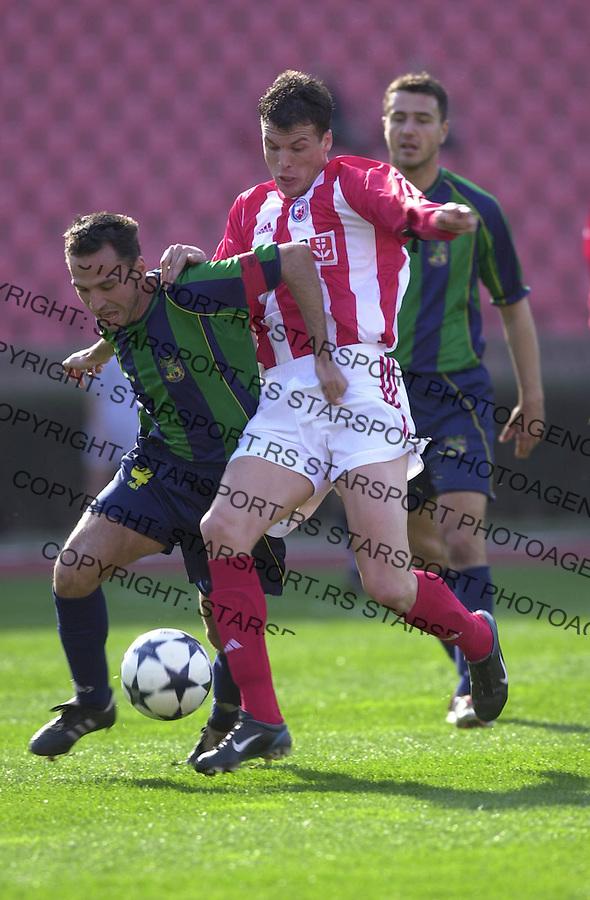 SPORT FUDBAL CRVENA ZVEZDA ZEMUN Perovic 21.03.2004. foto: Pedja Milosavljevic<br />