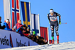 Ilaria Debertolis competes during the FIS Cross Country Ski World Cup 10 Km Individual Classic race in Dobbiaco, Toblach a, on December 20, 2015. Norway's Therese Johaug wins. Credit: Pierre Teyssot