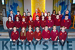 Holy Family NS at their Confirmation by Bishop Ray Brown in Our Lady and St Brendan's Church on Friday with teachers Ed O'Brien (Principal) and Tommy Lyons and Fr Padraig Walsh.