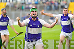 Saint Brendans celebrate their victory over Causeway in the Semi finals of the Kerry Senior Hurling Championship at Austin Stack Park, Tralee on Saturday.