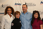 Law & Order SVU's Tamara Tunie (As The World Turns) & Christopher Meloni with Olympic skaters Dorothy Hamill & Kristi Yamaguchi at Skating with the Stars (celebrities & Olympic skaters), a benefit gala for Figure Skating in Harlem on April 6, 2010 at Wollman Rink, Central Park, New York City, New York. (Photo by Sue Coflin/Max Photos)
