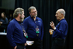 COLUMBUS, OH - MARCH 11: Officials confer with each other during the Division I Rifle Championships held at The French Field House on the Ohio State University campus on March 11, 2017 in Columbus, Ohio. (Photo by Jay LaPrete/NCAA Photos via Getty Images)