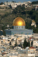 The Dome of the Rock at the Temple Mount is Israel is at the center of two of the world's great religions. The bedrock outcropping in the center of the dome is the spot from which Muslims believe Muhammad ascended for a night-long journey to Heaven in CE 621. In Judaism, the stone is believed to be the site where Abraham was tested by God to see if he would be willing to sacrifice his son Isaac.
