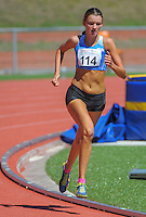 Auckland's Olivia Burdon competes in the youth women's 1500m final on day three of the 2015 National Track and Field Championships at Newtown Park, Wellington, New Zealand on Sunday, 8 March 2015. Photo: Dave Lintott / lintottphoto.co.nz
