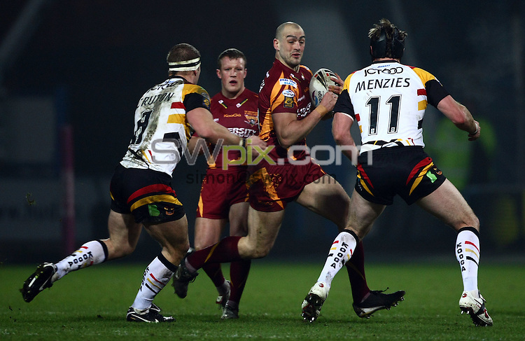 PICTURE BY VAUGHN RIDLEY/SWPIX.COM - Rugby League - Super League - Huddersfield v Bradford - The Galpharm Stadium, Huddersfield, England  - 05/02/10...Copyright - Simon Wilkinson - 07811267706...Huddersfield's Andy Raleigh.