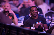30.12.2014.  London, England.  William Hill PDC World Darts Championship.  Actor David Harewood watches the action at the 2015 William Hill World Darts Championship.