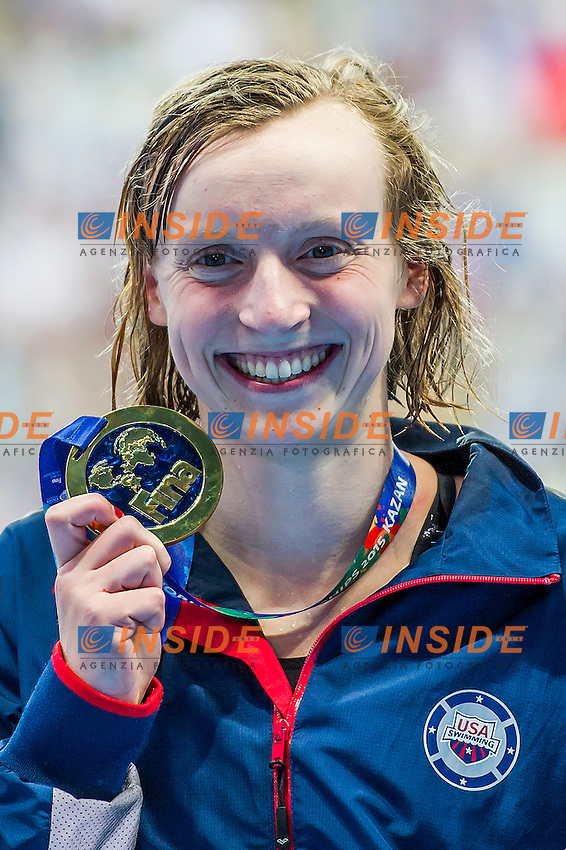 LEDECKY Katie USA<br /> 1500 Freestyle Women Final Gold Medal and World Record<br /> Swimming - Kazan Arena<br /> Day12 04/08/2015<br /> XVI FINA World Championships Aquatics Swimming<br /> Kazan Tatarstan RUS July 24 - Aug. 9 2015 <br /> Photo A.Masini/Deepbluemedia/Insidefoto