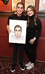 Ben Platt and Kathryn Gallagher attends the Ben Platt Sardi's Portrait unveiling at Sardi's on May 30, 2017 in New York City.