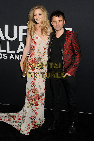 10 February 2016 - Los Angeles, California - Elle Evans, Matt Bellamy. Saint Laurent At The Palladium held at the Hollywood Palladium. <br /> CAP/ADM/BP<br /> &copy;BP/ADM/Capital Pictures