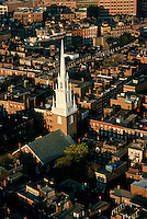 Aerial view, Old North Church, Boston, MA