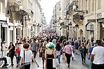 "The pedestrian street "" Sainte - Catherine "" , always crowded on Saturdays"