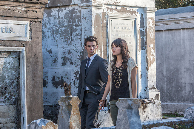 "Daniel Gillies as Elijah and Daniella Pineda as Sophie in the The Vampire Diaries spinoff ""The Originals"""