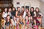 Friends.-------.Faith Cox,Oakpark,Tralee(seated centre)had fun and pizza in Bella Bia,Tralee for her 14th birthday last Saturday evening(seated)L-R Shauna Kealy,Katie Cahill,Faith Cox,Claire Shanahan and jenny Godley(back)L-R Aoife Lynch,Michaelle Sugrue,Brogan O'Sullivan,Geri O'Carroll,Sophie Cleary,Aedele Hennessy,Catriona O'Leary and Darlene Lacey.