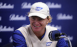 JEJU, SOUTH KOREA - APRIL 21:  Ernie Els of South Africa attends a news conference during ahead the Ballantine's Championship at Pinx Golf Club on April 21, 2010 in Jeju island, South Korea. Photo by Victor Fraile / The Power of Sport Images
