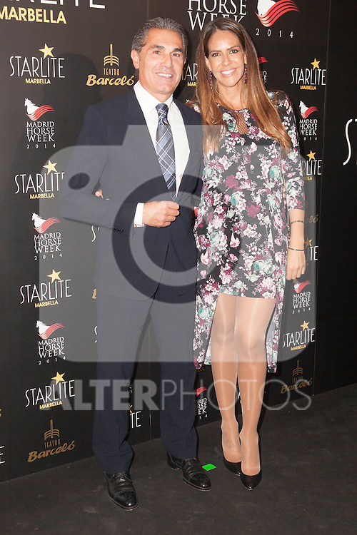 Sergio Scariolo and wife Blanca Ares attends Starlite 2015 presentation party at the Barcelo Theater on November 26, 2014 in Madrid, Spain.(ALTERPHOTOS / Nacho Lopez)