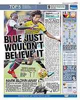 The Sun 02-Nov-2015 - 'NAT'S ENTERTAINMENT... Nathan Ake gets the better of West Ham's Victor Moses, another Chelsea loan star' - Photo by Rob Newell (Digital South)