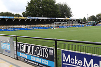 General view of the North Terrace at Bromley FC during Bromley vs Chesterfield, Vanarama National League Football at the H2T Group Stadium on 7th September 2019
