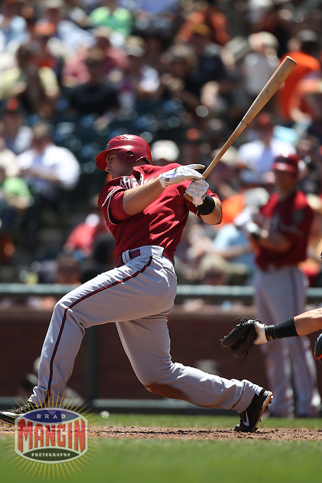SAN FRANCISCO - AUGUST 3:  Paul Goldschmidt #44 of the Arizona Diamondbacks bats against the San Francisco Giants during the game at AT&T Park on August 3, 2011 in San Francisco, California. Photo by Brad Mangin