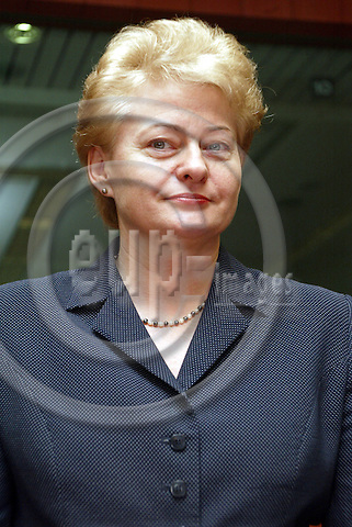 Belgium---Brussels---Council---ECOFIN---Round Table.our de Table                 10.02.2004.Dalia GRYBAUSKAITE, Finance Minister, Lithuania; nominated to become an European Commissioner     .PHOTO: EUP-IMAGES / ANNA-MARIA ROMANELLI