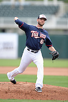 Minnesota Twins pitcher Jared Burton (61) throws live batting practice during practice on February 25, 2014 at Hammond Stadium in Fort Myers, Florida.  (Mike Janes Photography)