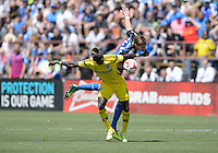 Santa Clara, Ca - Sunday, April 13, 2014: The San Jose Earthquakes tie the Columbus Crew, 1-1, at Buck Shaw Stadium.