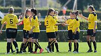DVK Egem - Club Brugge Dames B :  dames DVK Egem met peptalk <br /> Foto David Catry | VDB | Bart Vandenbroucke
