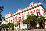 Historic architecture of provincial government offices in Plaza del Triunfo central Seville, Spain
