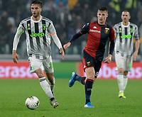 30th October 2019; Allianz Stadium, Turin, Italy; Serie A Football, Juventus versus Genoa; Rodrigo Bentancur of Juventus on the ball - Editorial Use