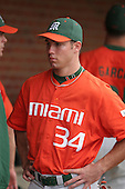 Jonathan Weislow of the Miami Hurricanes vs. the Virginia Cavaliers: March 24th, 2007 at Davenport Field in Charlottesville, VA.  Photo copyright Mike Janes Photography 2007.
