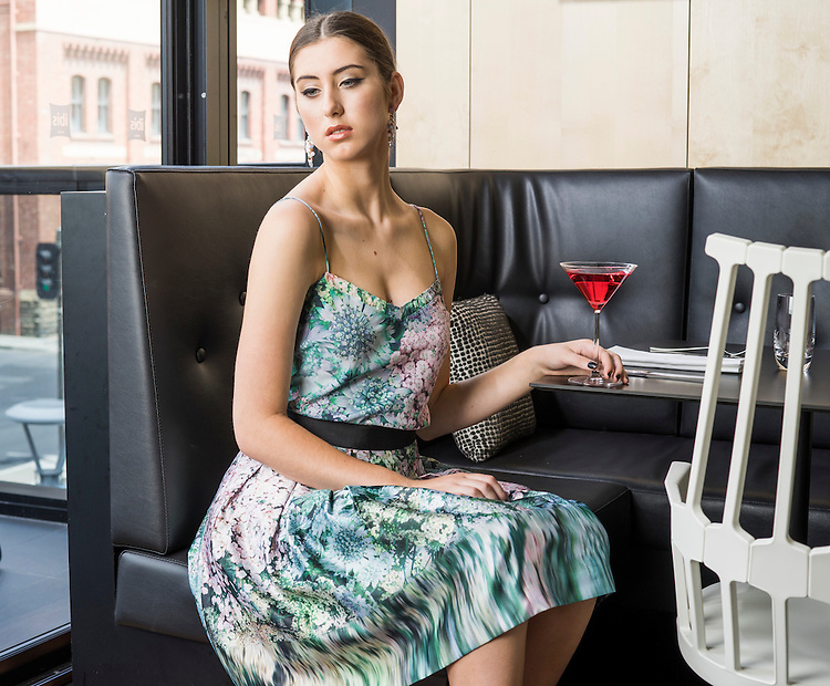 Sunday Fashion, Ladies who Lunch. Model Akaysha Adderley at the Ibis Hotel Grenfell Street Adelaide. Photo: Nick Clayton