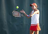 STANFORD, CA - January 26, 2011: Hilary Barte of Stanford women's tennis during her match against UC Davis' Dahra Zamudio. Barte won 6-2, 6-0.