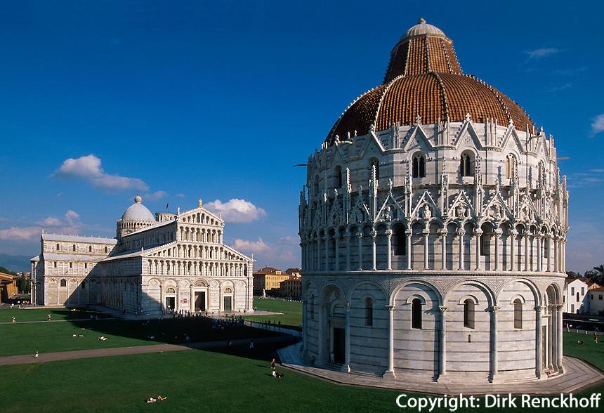 Dom und Baptisterium, Pisa,Toskana, Italien, Unesco-Weltkulturerbe