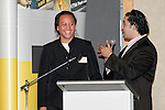 Phillis Meti is interviewed by Henry Tuipea. ASB College Sport Young Sportsperson of the Year Awards 2006, held at Eden Park on Thursday 16th of November 2006.<br />