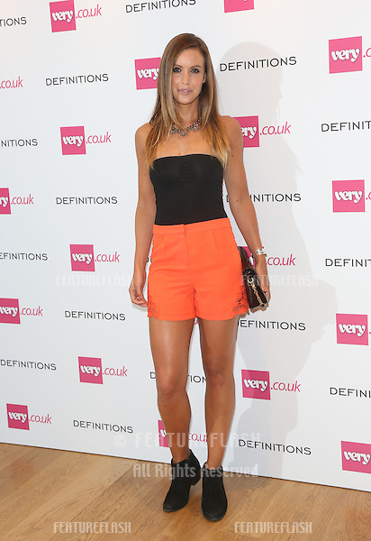 Charlie Webster at the Launch party for Very.co.uk introducing the new fashion brand Definitions at Somerset House<br /> London. 04/09/2013 Picture by: Henry Harris / Featureflash