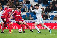 Real Madrid Fernando Alarcon 'Isco' and CD Numancia Unai Elgezabal during King's Cup match between Real Madrid and CD Numancia at Santiago Bernabeu Stadium in Madrid, Spain. January 10, 2018. (ALTERPHOTOS/Borja B.Hojas) /NortePhoto.com NORTEPHOTOMEXICO