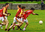Garrymore's breaking through the Ballinrobe challenges during the U21 b County final...Pic Conor McKeown