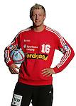 Handball Bundesliga 2005/2006 Autogrammkarten Concordia Delitzsch Torhueter Jan RESIMIUS (Concordia) Autogrammkarte, Portrait, Ball, Studio, Freisteller.
