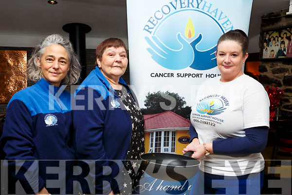 Recovery Haven volunteers at the Pancake morning in the Brogue Inn on Tuesday morning. L-r, Margo Barry, Tina Cunningham and Marisa Reidy.