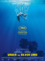 Under the Silver Lake (2018) <br /> French poster<br /> *Filmstill - Editorial Use Only* see Special Instructions.<br /> CAP/PLF<br /> Image supplied by Capital Pictures