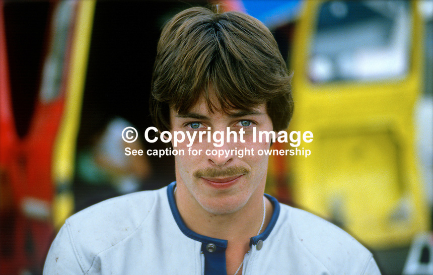 Sean McStay, Tandragee, N Ireland, UK, racing motorcylist, 19840100SMS..Copyright Image from Victor Patterson, 54 Dorchester Park, Belfast, UK, BT9 6RJ..Tel: +44 28 9066 1296.Mob: +44 7802 353836.Voicemail +44 20 8816 7153.Skype: victorpattersonbelfast.Email: victorpatterson@me.com.Email: victorpatterson@ireland.com (back-up)..IMPORTANT: If you wish to use this image or any other of my images please go to www.victorpatterson.com and click on the Terms & Conditions. Then contact me by email or phone with the reference number(s) of the image(s) concerned.