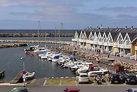 Ferien h&auml;user am Hafen von Hasle auf der Insel Bornholm, D&auml;nemark, Europa<br /> Cottages at port of Hasle, Isle of Bornholm Denmark