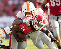 Athens, Georgia - September 29, 2018: Sanford Stadium, the number 2 ranked University of Georgia Bulldogs vs University of Tennessee Volunteers.