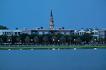 charleston waterfront park evening with St Josephs church steeple charleston south carolina