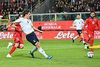 Italy's Nicolo' Zaniolo scores the 2-0 goal <br /> Palermo 18-11-2019 Stadio Renzo Barbera <br /> UEFA European Championship 2020 qualifier group J <br /> Italy - Armenia <br /> Photo Carmelo Imbesi / Insidefoto