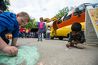 NWA Democrat-Gazette/BEN GOFF @NWABENGOFF<br /> Children play Friday, May 10, 2019, at the Inclusion Town area at Compton Gardens during the Bentonville Film Festival.