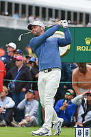 Paul Casey (GBR) watches his tee shot on 17 during round 4 of the 2019 US Open, Pebble Beach Golf Links, Monterrey, California, USA. 6/16/2019.<br /> Picture: Golffile | Ken Murray<br /> <br /> All photo usage must carry mandatory copyright credit (© Golffile | Ken Murray)