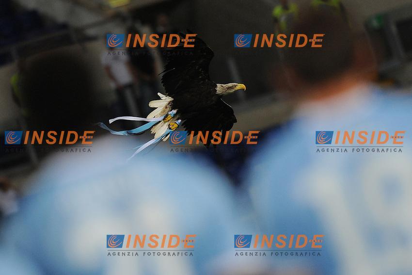 Olimpia, durante la presentazione della Lazio..Lazio vs Real Sociedad.Amichevole di calcio.Roma, 11/08/2011.Photo Antonietta Baldassarre Insidefoto
