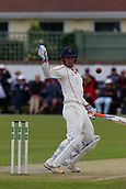 June 12th 2017, Trafalgar Road Ground, Southport, England; Specsavers County Championship Division One Day Four; Lancashire versus Middlesex; Liam Livingstone of Lancashire watches a high ball go by his off stump